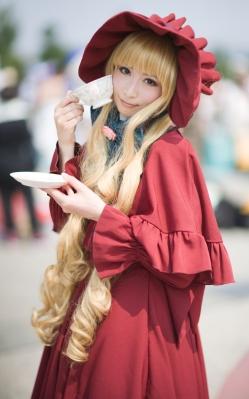 Cosplat da personagem Shinku, do anime Rozen Maiden (imagem: divulgação)