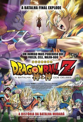 """Cartaz oficial do filme """"Dragon Ball Z - A batalha dos Deuses"""" (imagem: Diamond Films)"""