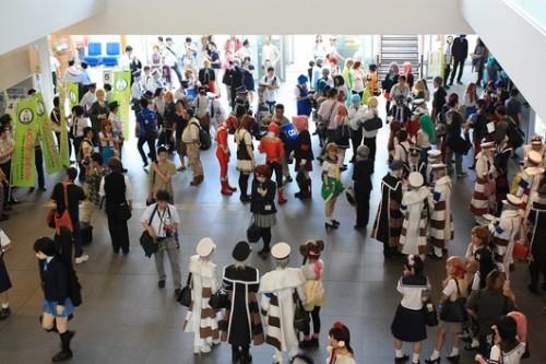 Aí você chega na estação, e encontra aquele personagem de seu anime favorito!