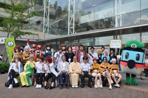 Foto tirada na chegada da estação com a presença dos cosplays!