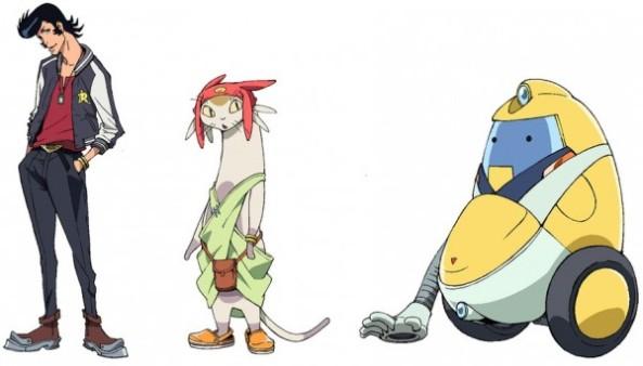 Personagens: Dandy, Meow e QT
