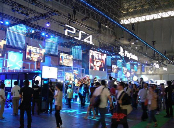 Parte de fora do estande do PS4 (imagem: TokyoOtakuMode)