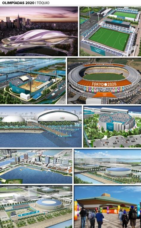 Futuras instalações para os Jogos Olímpicos Tokyo 2020 (imagens: COI)